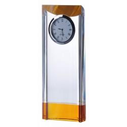Trofeum szklane Zegar C040