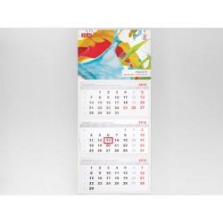 Kalendarz trójdzielny Prosty